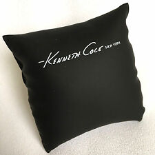 Black Kenneth Cole Watch Display Pillow Only, 3.5 inches, Faux Leather and Logo