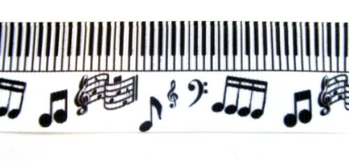Musical Notes Grosgrain Ribbon 22mm Cartoon Cake Bow Hair Dummy Clips Gift Wrap