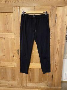 Lululemon-Jet-Crop-Pants-Trouser-Black-Luon-Sz-6-Tie-Waist-Mid-Rise-Tapered