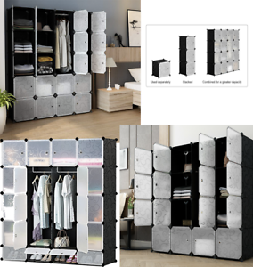 16-20-Cube-DIY-Plastic-Storage-Wardrobe-Shoe-Organizer-Shelves-Unit-Hanging