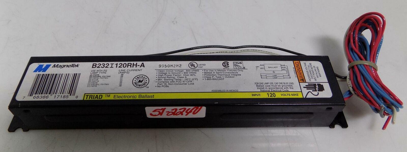 Triad B232I120RH-A 2-Lamp Electronic Ballast 4-Piece Deal