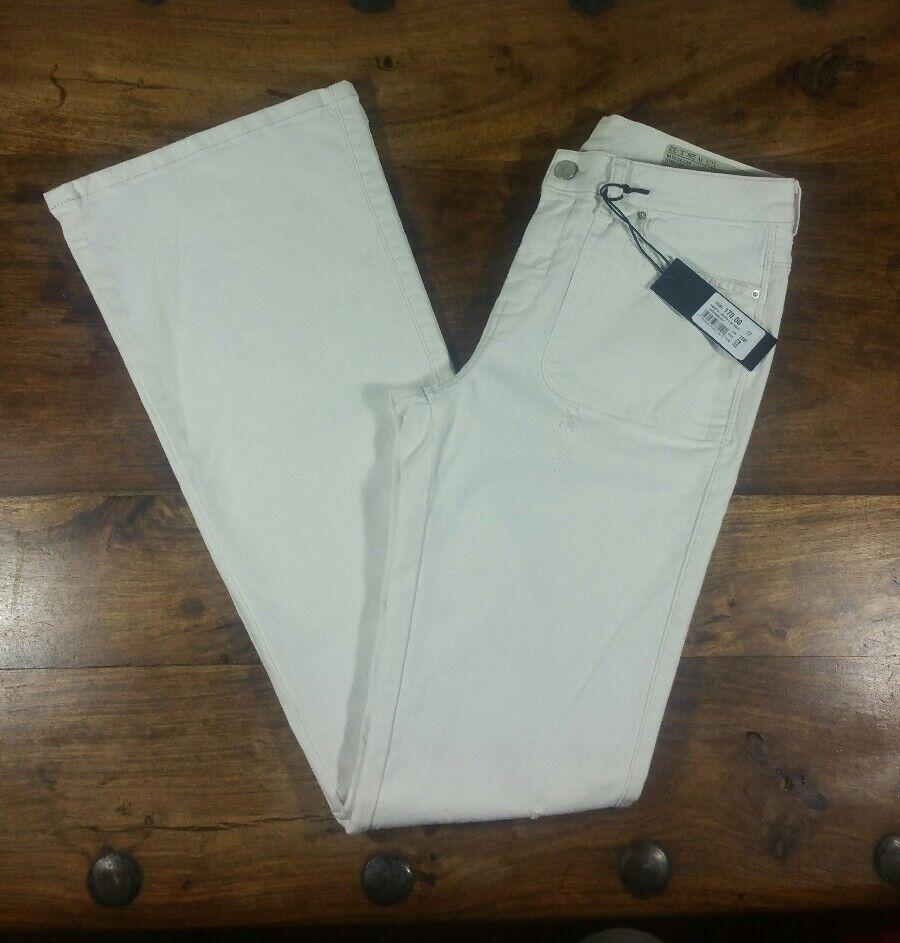 DIESEL SANDY B PATCH WHITE WOMENS REGULAR BOOTCUT STRETCH JEANS W 28 LEG 32 BNWT