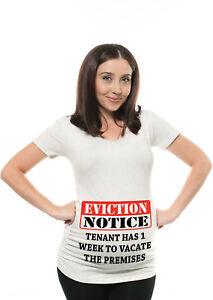e2b4bcb402da1 Pregnancy T Shirt Baby Shower Idea Funny Maternity T shirt Eviction ...