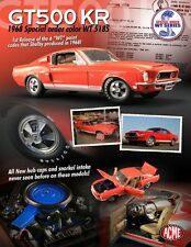 ACME 1:18 SCALE DIECAST METAL WT-5185 ORANGE 1968 FORD SHELBY GT500KR MUSTANG
