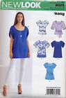 NEW LOOK SEWING PATTERN 6025 MISSES SZ 8-18 EASY TUNICS & TOPS IN PLUS SIZES