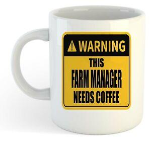 Warning-Esta-Granja-Director-Necesita-Cafe-Blanco-Taza-Regalo-Trabajo-Regalo