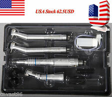 NSK Dental Low High Speed Straigh Handpiece Kit 4 Holes Push Button USA Shipping