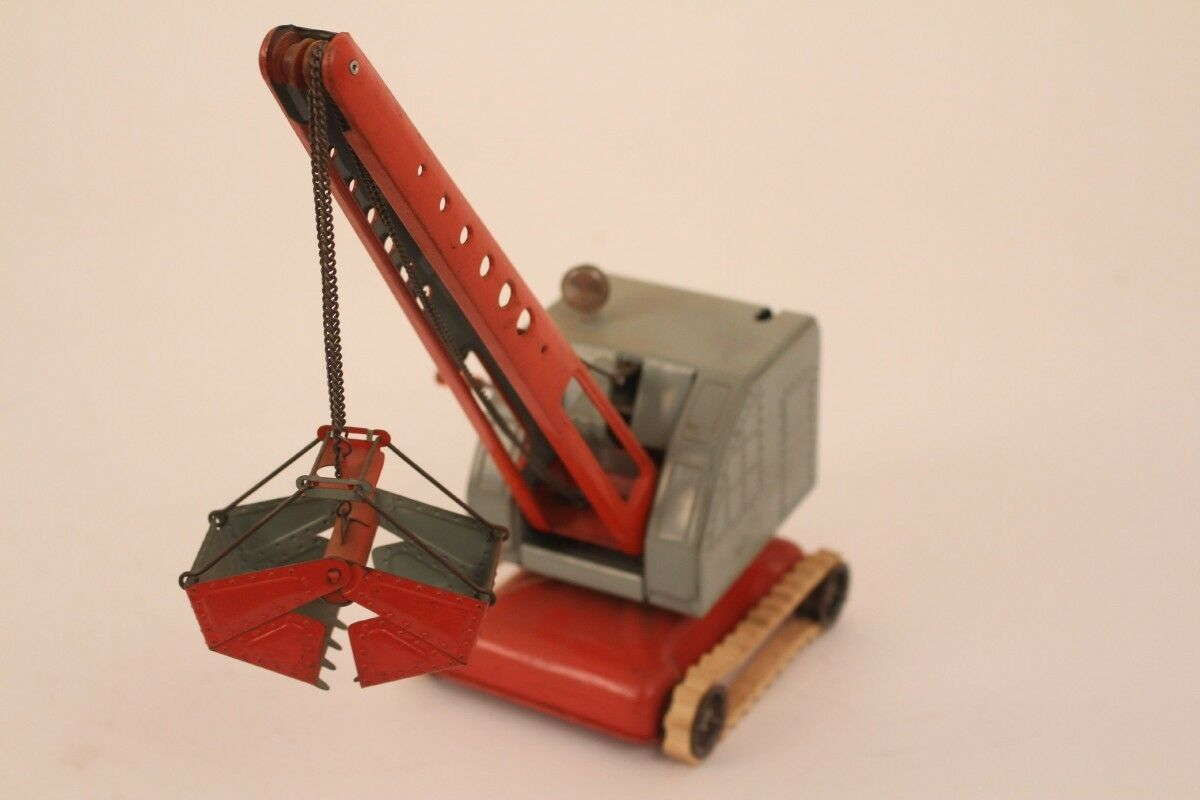 MFZ Fox Crane Crane 3020 US Zone Germany Tin Toy greifkran Tin Toy