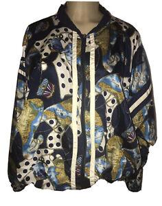 90s vintage beautiful all over animal print windbreaker jacket