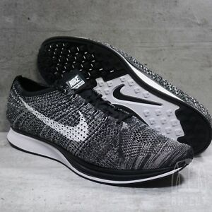 Details about Mens Nike Flyknit Racer Oreo 526628 012 Sz 15 Running Shoes Trainer Black White