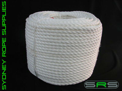 Disciplined 32mm Polypropylene White Rope Per/metre Relieving Heat And Thirst. Home Improvement
