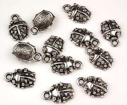 20 Ladybug Tibetan Zinc Alloy Lead Free Loose Jewelry Making Beads Charms