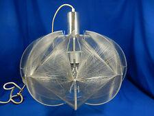 Cool XXL 70´s design Plexiglas Nylon Fadenlampe Pendelleuchte pendant lamp 45 cm