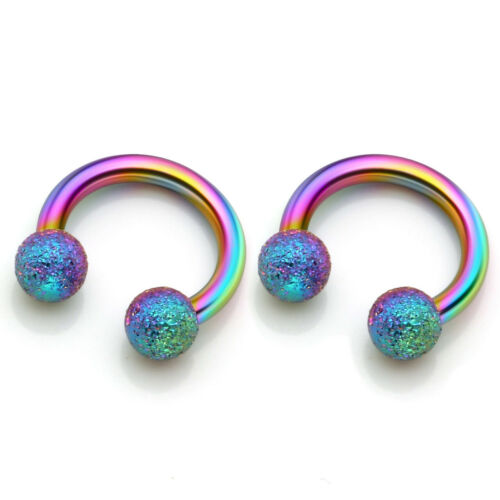 Stainless Steel Ball Top Horseshoe Body Piercing CBR Tragus Lip Ear Nose Earring
