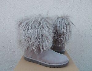 fa03240ab18 Details about UGG LIDA TALL LONG MONGOLIAN SHEEPSKIN CUFF BOOTS, WOMENS US  6/ EUR 37 ~NIB