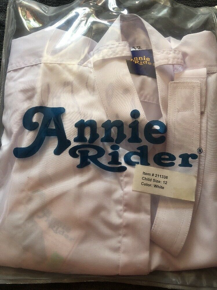 New Annie Rider English Show Shirt  ld  Size 12 Short Sleeve  authentic
