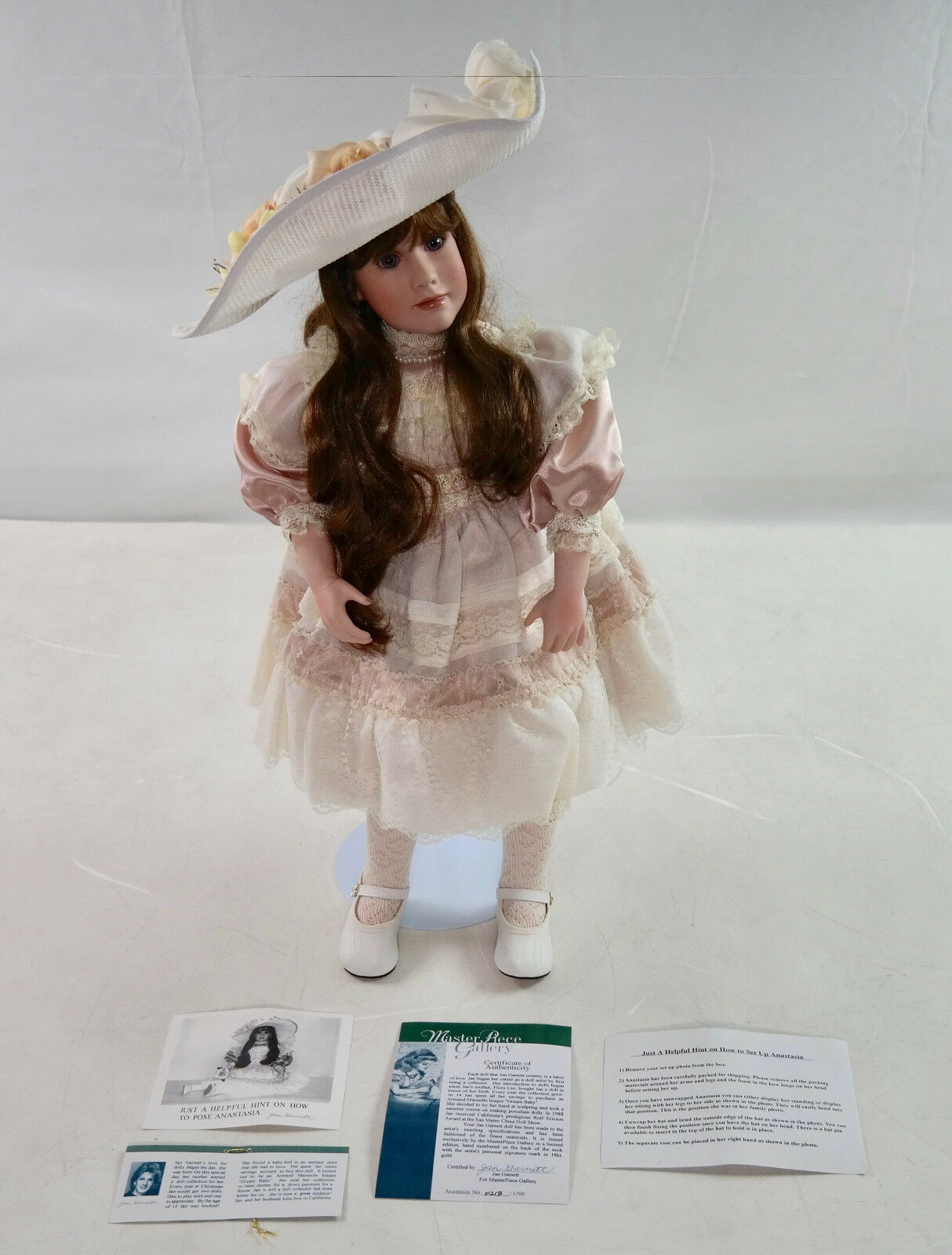 Rare MasterPiece Gallery  Anastasia  Ltd. Jan Garrett Porcelain Doll 0218/1500