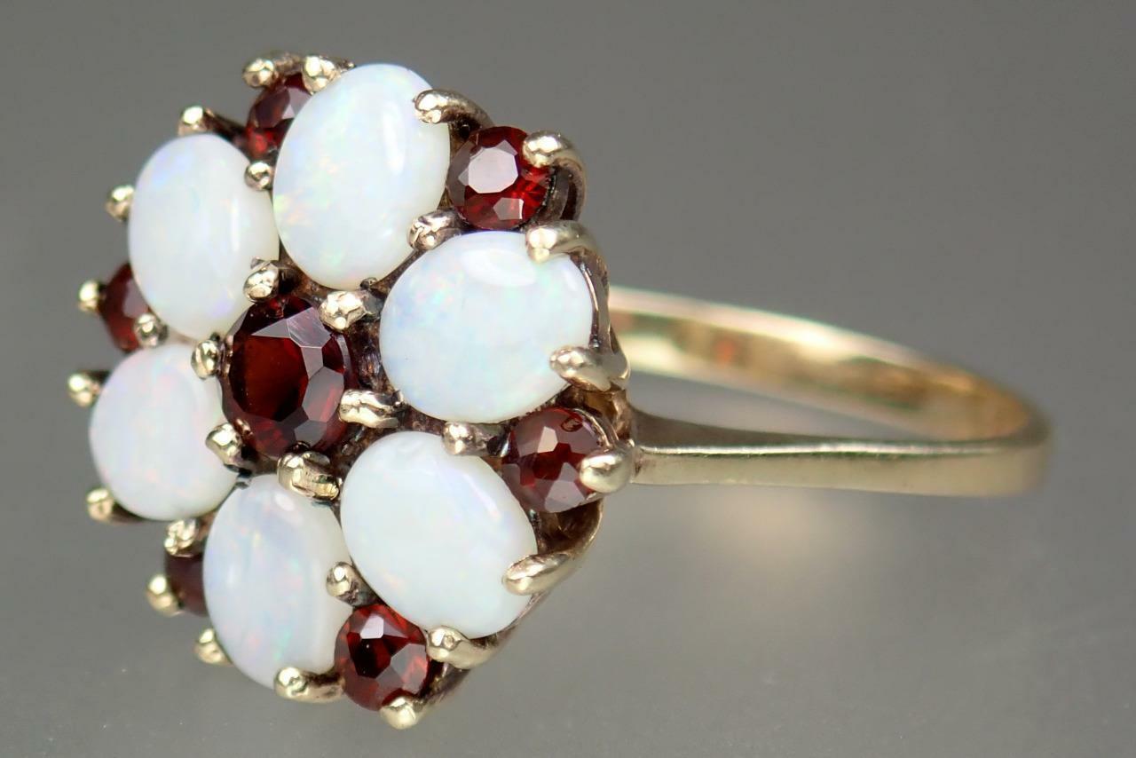 Beautiful Vintage Estate 9K Gold 1.1ct Opal Garne… - image 2