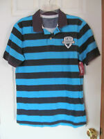 Men's Arizona Blue,navy Short Sleeved Collard Polo Shirt Size Medium