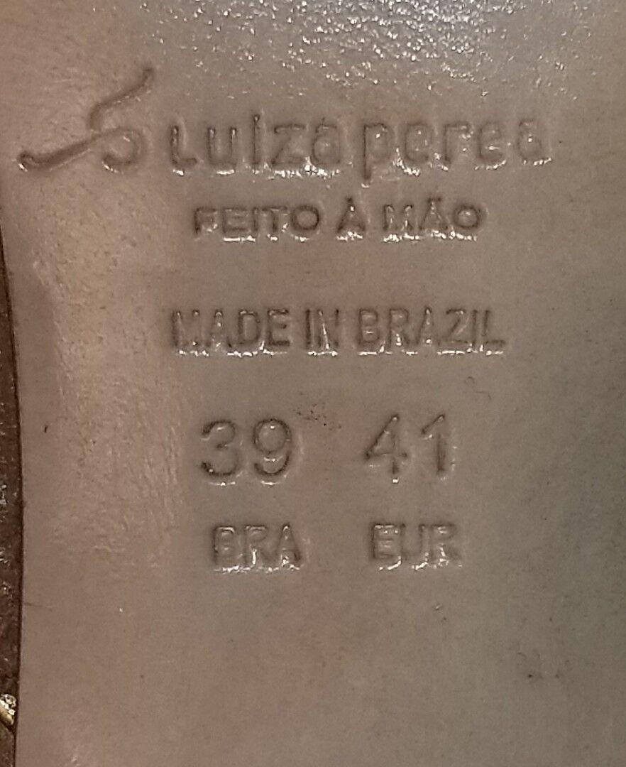 Nuevo Luiza Perea Marrón Cuero Botines para mujer de Santos EU US 10.5 11 EU Santos 41 b61309
