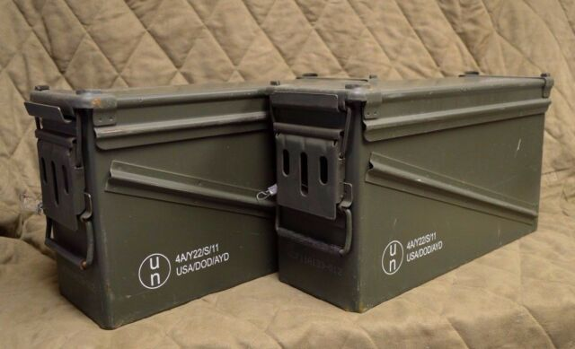 BA30 3 PACK MILITARY 40MM FREE SHIPPING* PA120 AMMO CAN VERY GOOD CONDITION