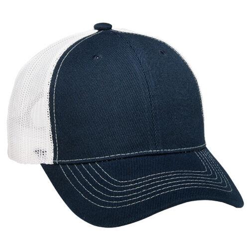 12 Navy Blue 1 Dozen Mesh White Blank Classic Trucker Hats Acrylic Twill