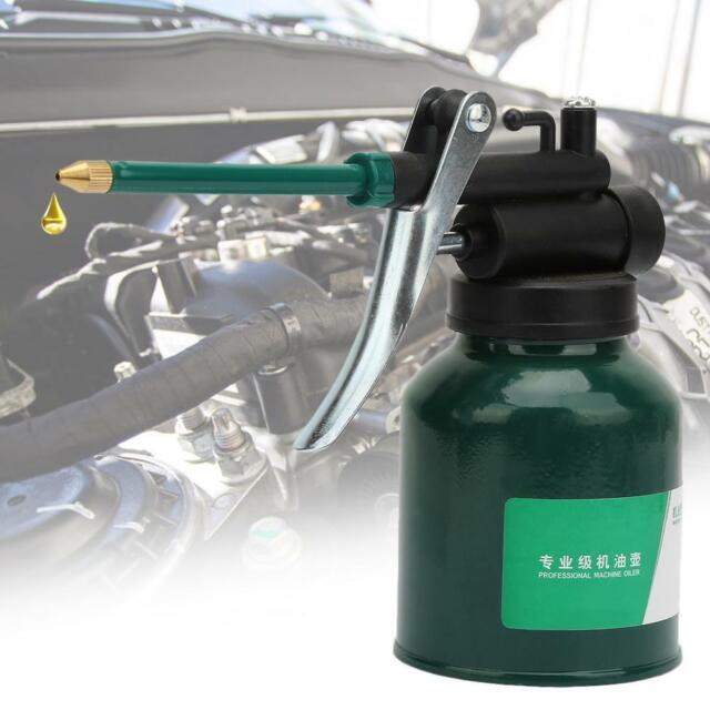 250g High Pressure Hand Pump Oiler Oil Pot Can Spray Gun Hose For Lubricants