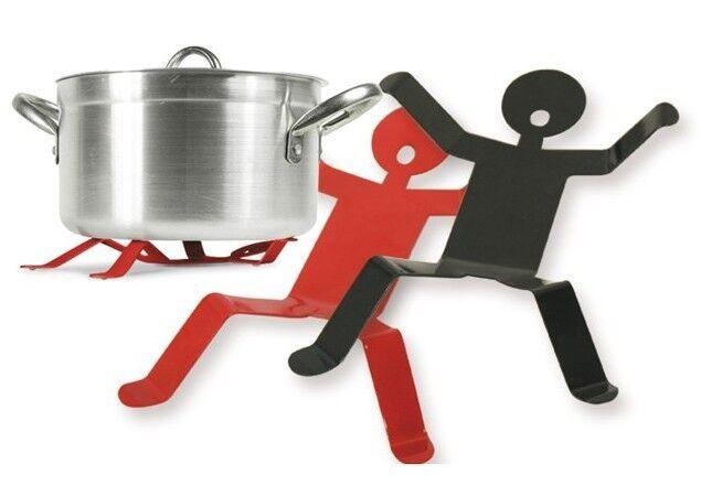 Dead Man Death Pot Holder Kitchen Iron Trivet Hot Pot Pan Holder Stand