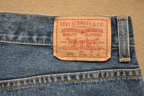 Coton Droits Homme Loose Medium 28 Jeans 100 Wash Levi's Taille 569 X zqn17xf