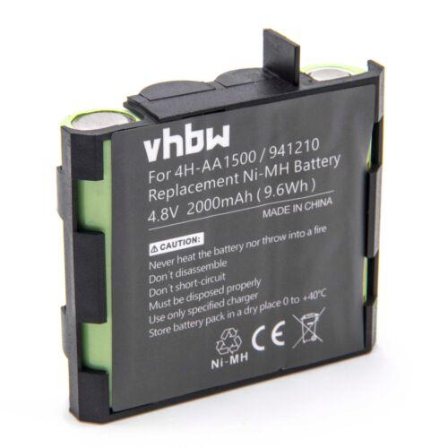 Battery 2000mAh 4.8V Ni-Mh for Compex Mi-Sport Performance Mi-ready