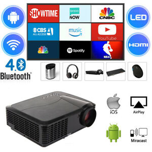 4500-Lumen-Beamer-Android-WIFI-Bluetooth-Heimkino-1080P-HDMI-USB-LED-Projektor