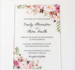 80pcs Personalised Laser Cut Wedding Day Evening Invitations Free P/&P Envelopes