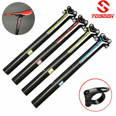 TOSEEK Seatpost Seat Post Tube Full Carbon Fiber MTB//Road Bike 27.2//30.8//31.6mm