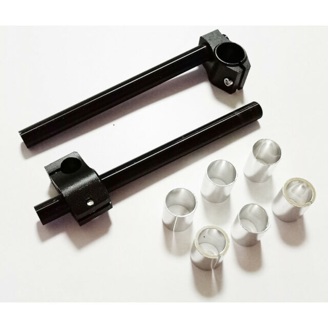 Cafe racer clip on bars 32mm motorcycle handlebars high quality CNC aluminium