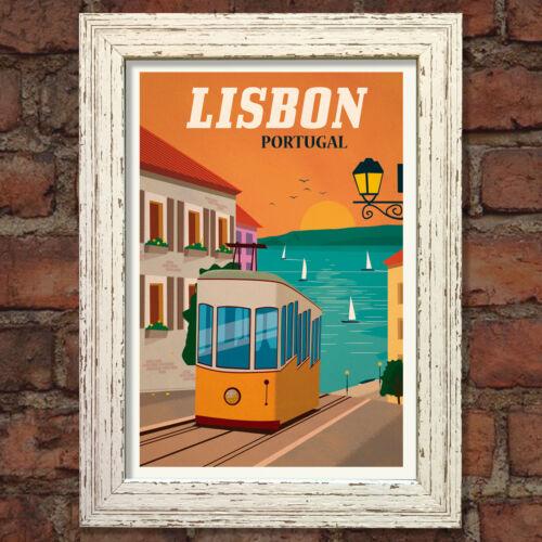LISBON VINTAGE RETRO TRAVEL Poster Nostalgic Home Art Print Wall Decor #47