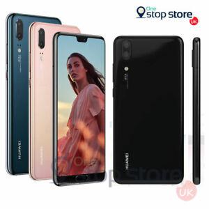 """Huawei P20 128 Go 5.8"""" Noir, Bleu, Rose Sans SIM 12MP Débloqué NFC Smartphone"""