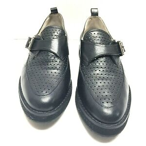 Michael-Michael-Womens-Kors-Dakota-Loafer-Buckle-Strap-Black-Leather-Size-9-5-M
