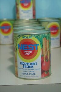 Vintage-1970s-Neo-Life-NEST-Prospector-039-s-Biscuits-Can-Full-Unopened-Storage-Pack