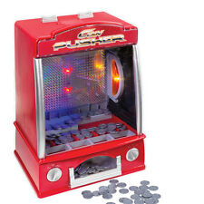 Classic Arcade Coin Pusher Table Top Penny Falls Novelty Game Fairground Lights