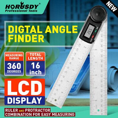 Electronic Digital Display Protractor Goniometer Angle Finder Miter Gauge Tools