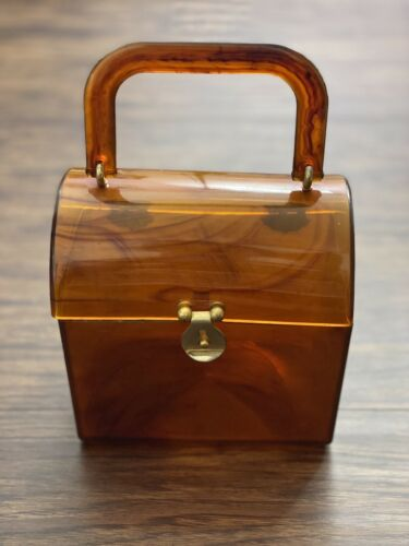 Lucite Tortoise Shell Purse 1950's