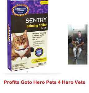 Sentry Calming Collar for Cats 1 3 6 12 or 24 Packs Pheromone-As Low as $5.00!