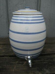 Antique-2-Beehive-Stoneware-Crock-Water-Dispenser-B2258