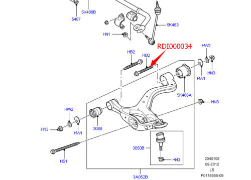 Set of 2 New Front Control Arm Bolt For 2005-2014 Range Rover Sport LR3 LR4