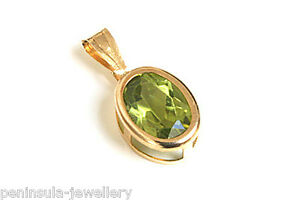 9ct gold peridot pendant no chain made in uk gift boxed ebay image is loading 9ct gold peridot pendant no chain made in aloadofball Gallery