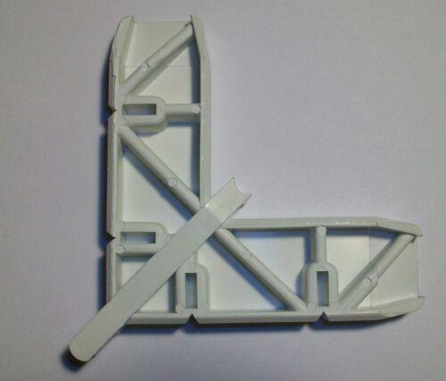 """CRL Andersen 1/"""" x 15//32/"""" White Plastic Screen Door Frame Corner 4//PK PL16124"""
