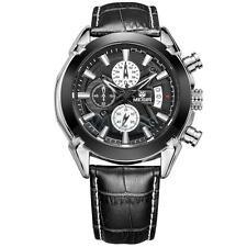 Men Business Casual Chronograph Quartz Watch Leather Wristwatches Megir 2020