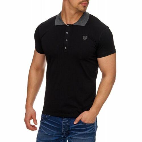 Tazzio Fashion Herren Poloshirts Schwarz