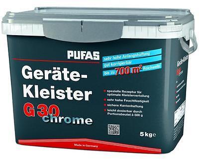 (19,10€/kg) Pufas Geräte-kleister G30 Chrome 5kg