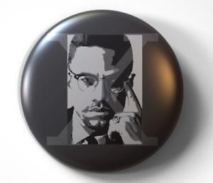 Malcolm-X-pin-pinback-button-FREE-Shipping
